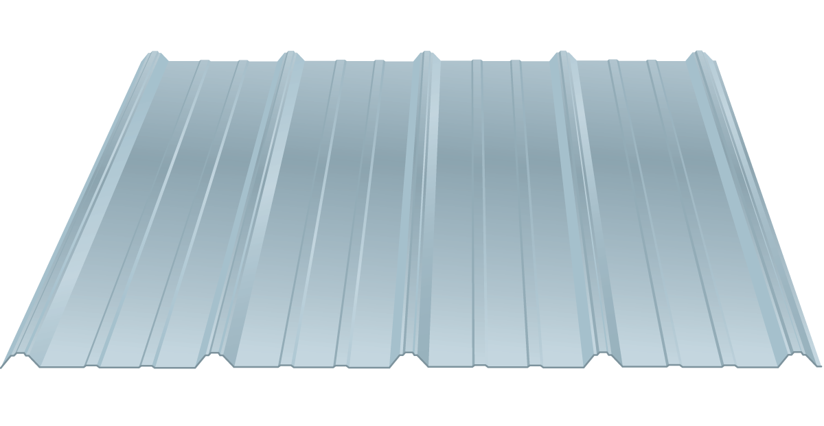 ribbed steel roof panels