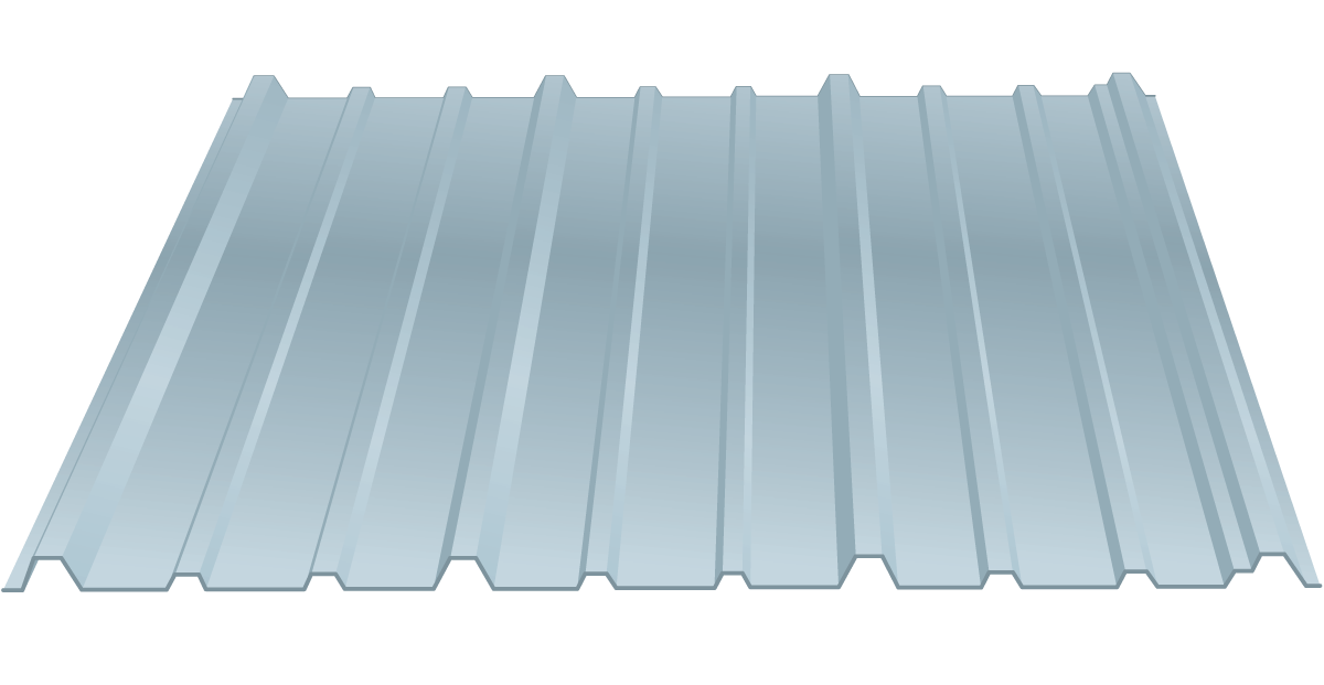 wide rib metal roofing