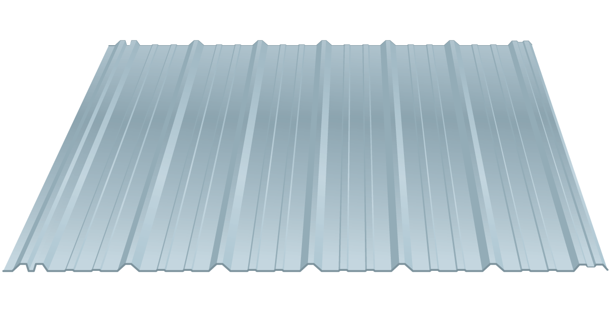 post-frame metal roofing panels