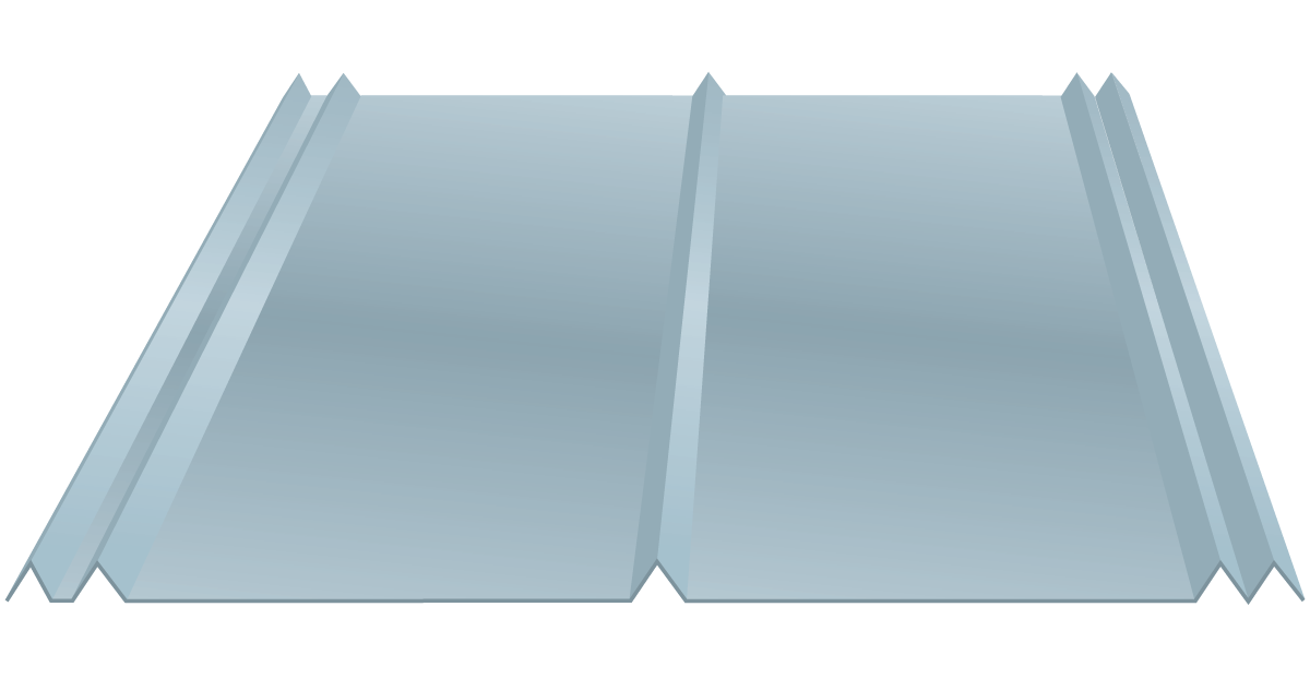 5V Crimp metal panel diagram and dimensions