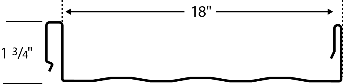 stading seam panel profile